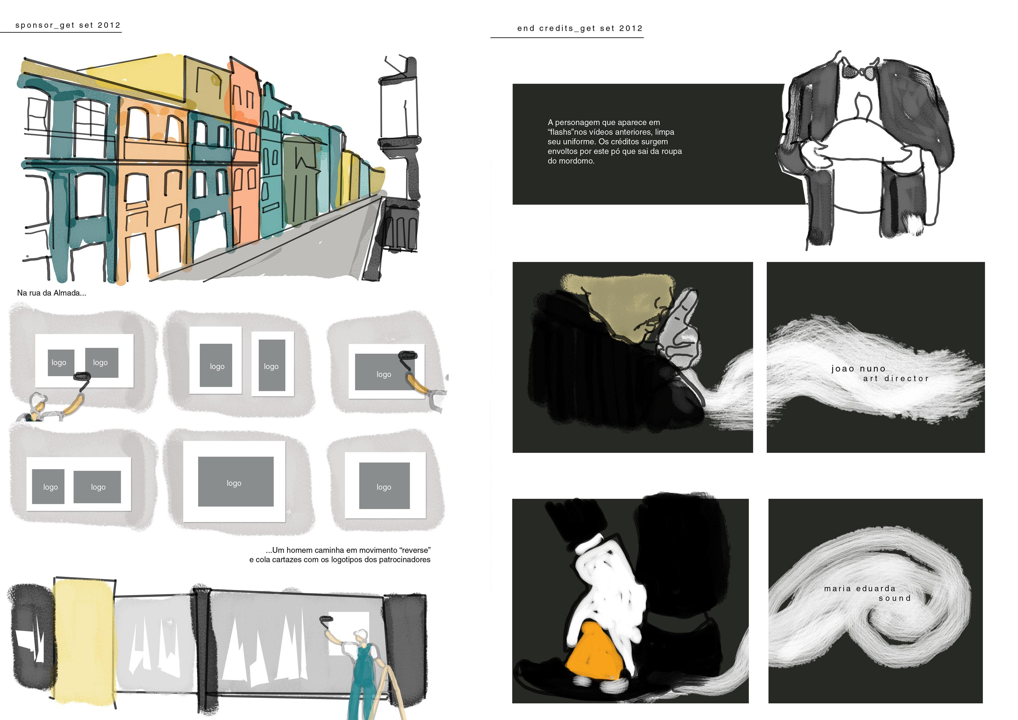 Estudo de composição e transição das cenas
